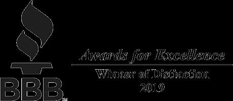 Better Business Bureau BBB - Winner of Distinction 2019