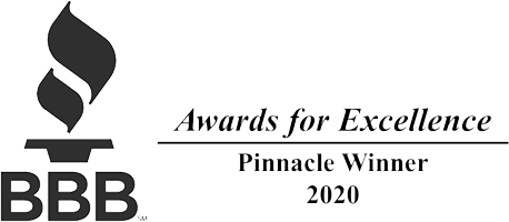 Better Business Bureau BBB - Pinnacle Winner 2020